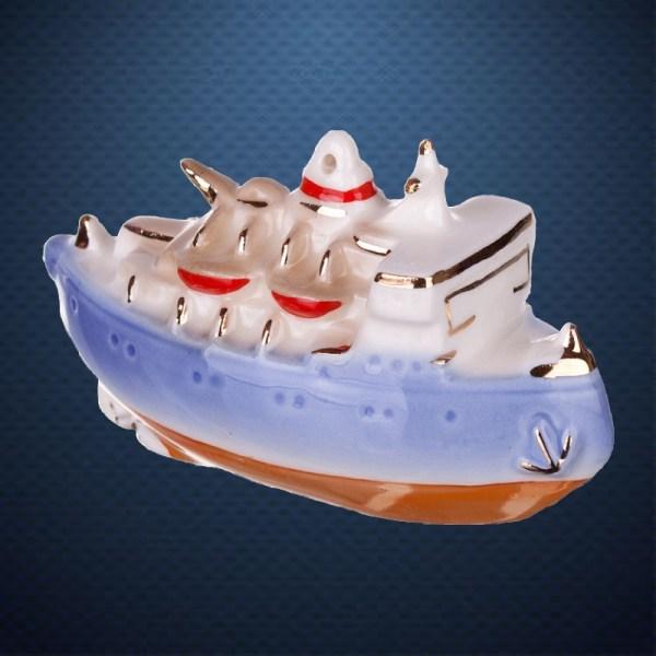 Фарфоровая елочная игрушка из серии РЕТРОТЕХНИКА Фарфоровая Мануфактура КРАСИН