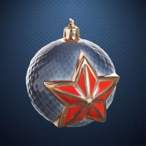 Фарфоровый елочный шар Фарфоровая Мануфактура ШАР ЗВЕЗДА