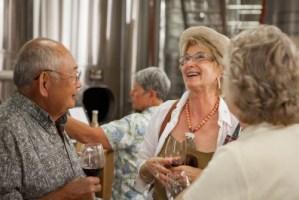 Club Members in the Wine Cellar