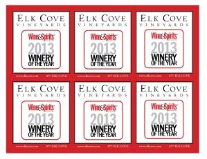 2013 Winery of the Year Shelf Talker