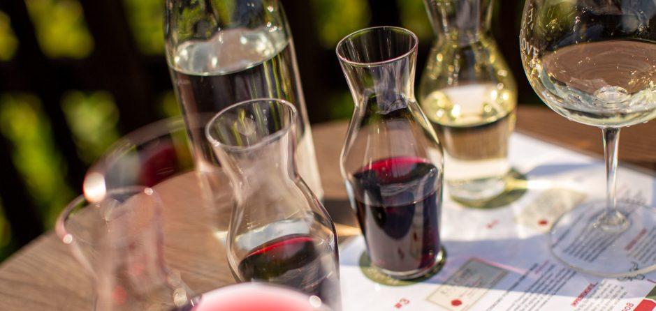 outdoor wine tasting