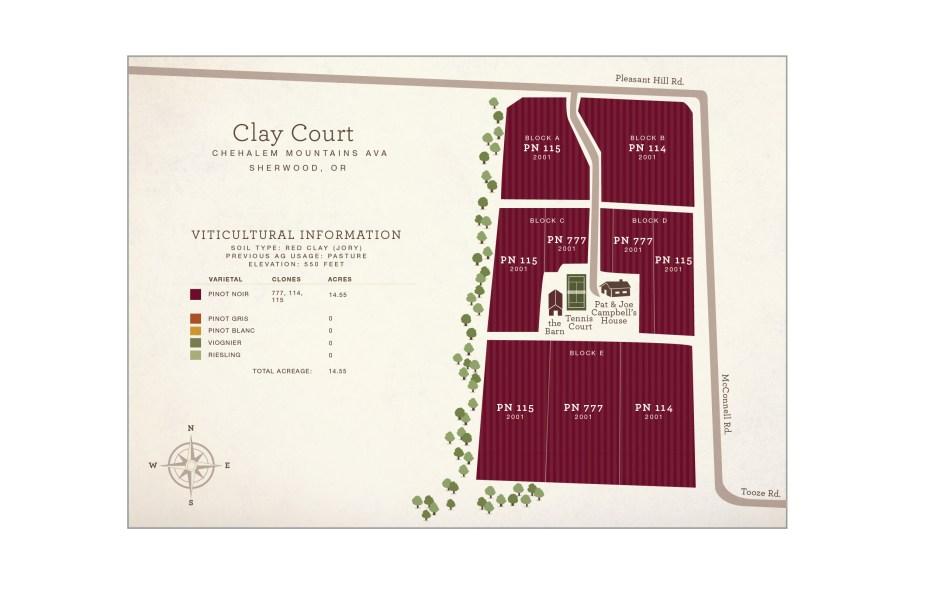 Clay Court Vineyard Map