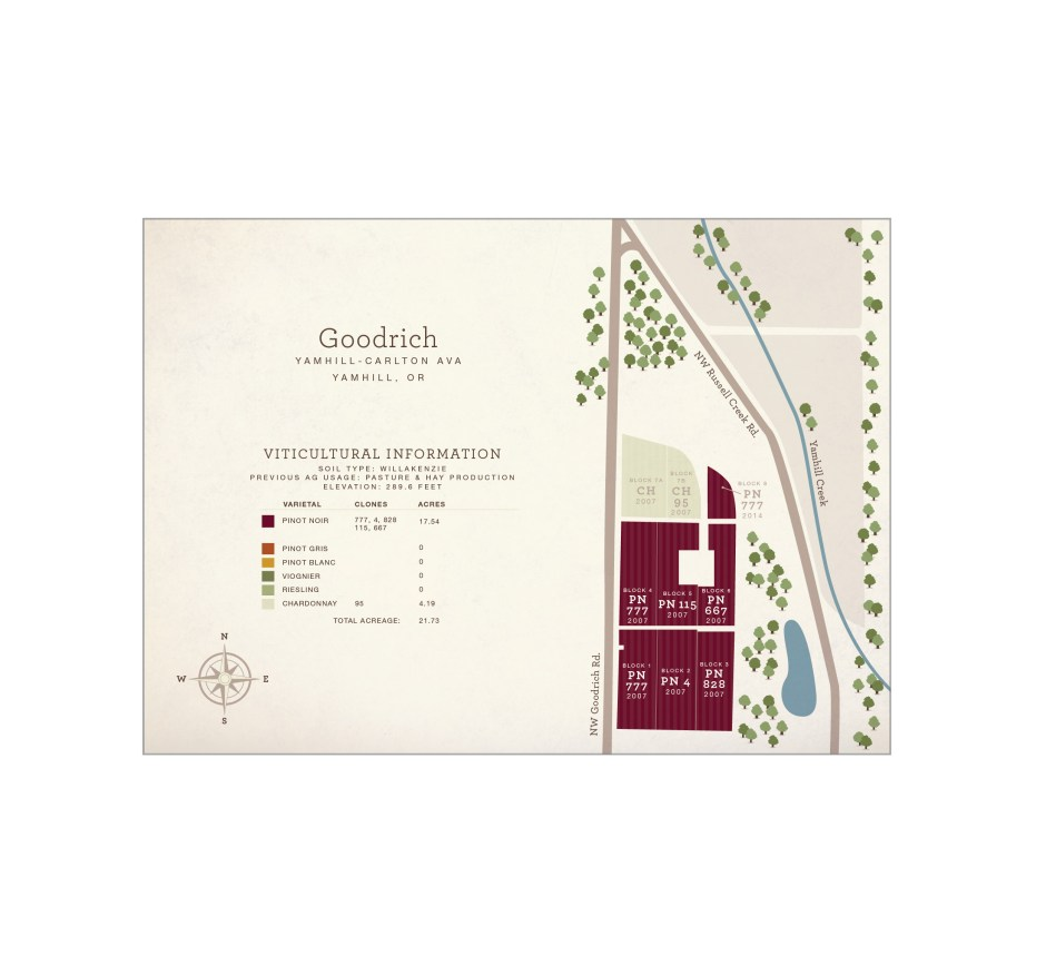 Goodrich Vineyard map