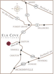 Area Map of Elk Cove Vineyards