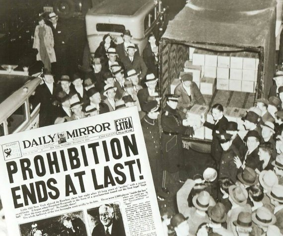 Prohibition ends at last newspaper
