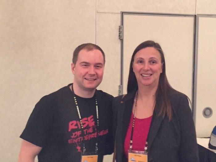Zac Johnson and Elke Clarke at Affiliate Marketing Summit West 2015