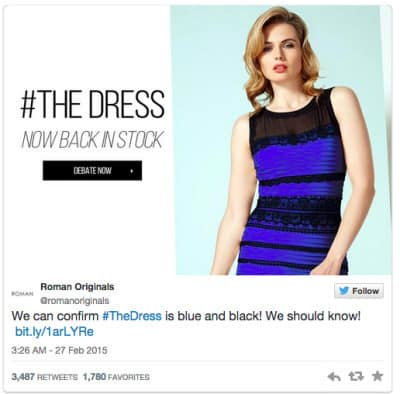 #thedress from Roman Originals