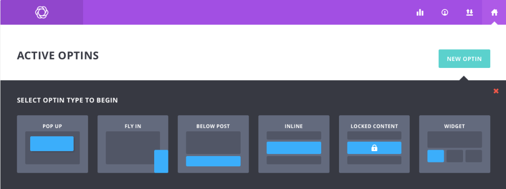 Bloom allows you several options to present your form