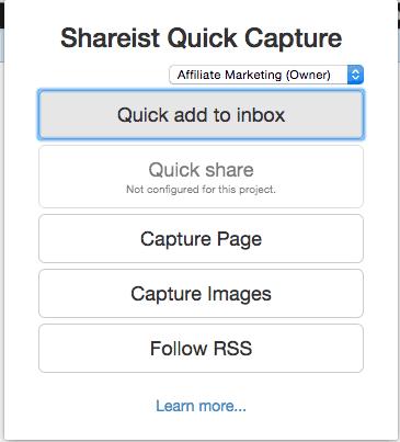 Shareist Quick Capture