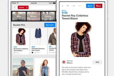 """Customers can buy products directly from Pinterest with """"Buyable Pins"""" on Pinterest using the Pinterest """"Buy It"""" Button"""