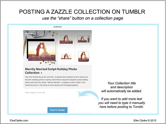 How to Post a Zazzle Collection to Tumblr