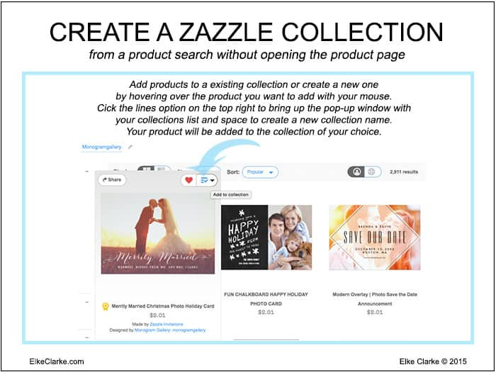 How to create a Zazzle Collection from a Zazzle product search