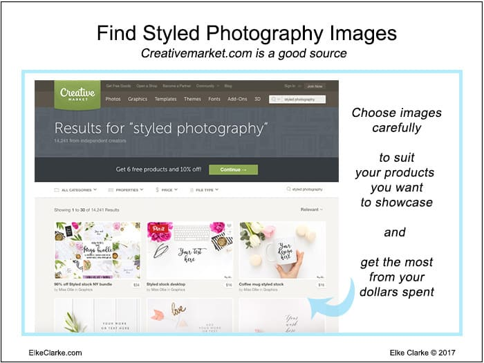 Optimize Zazzle Store Categories by Using Styled Photography Purchased from Creative Market