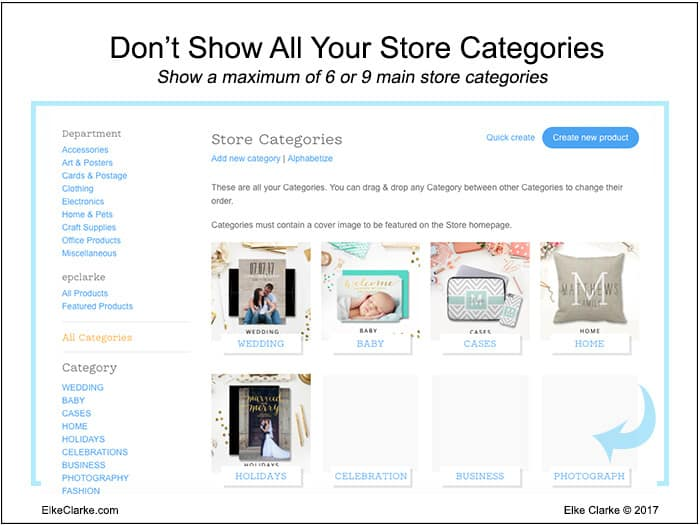 Optimize Zazzle Store Categories by Showing Only a Maximum of 6 to 9
