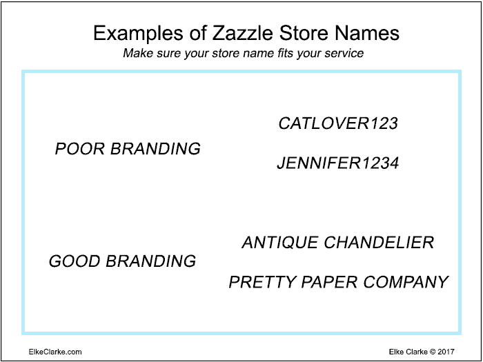 Examples of Good and Bad Zazzle Store Names