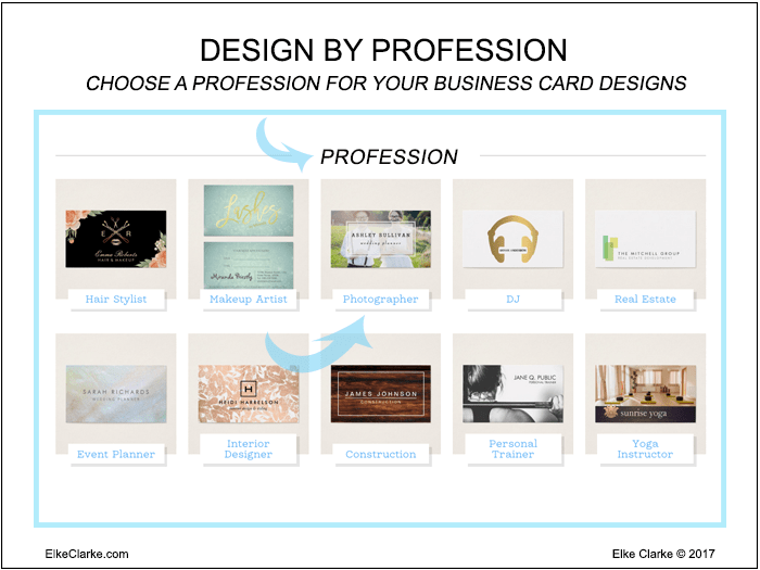 Design Business Cards on Zazzle by Profession