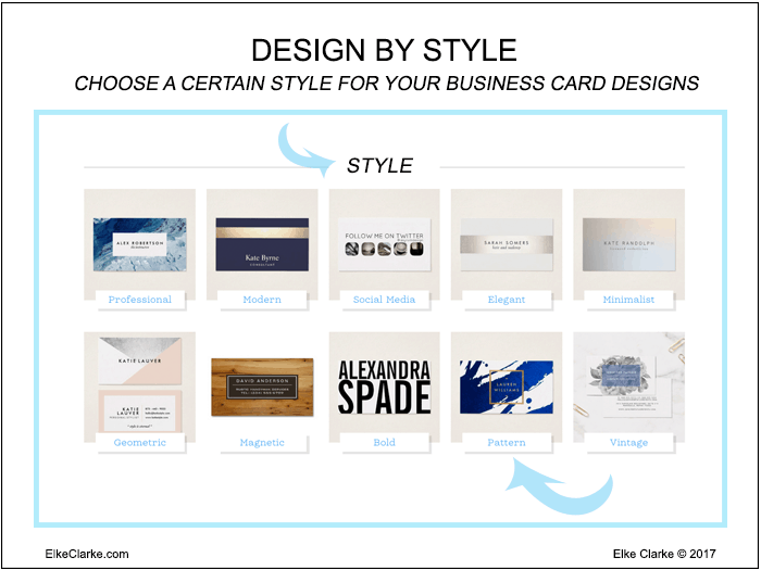 Design Business Cards on Zazzle by Style