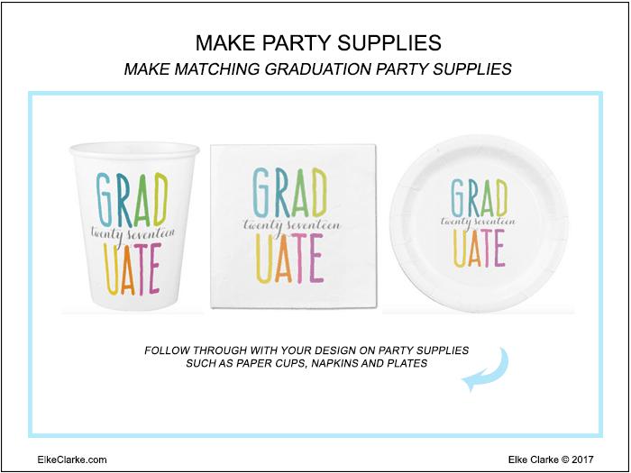Make Graduation Party Supplies