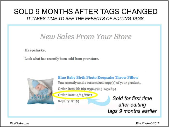 Sold 9 Months After Editing The Product Description and Key Words or Tags of This Zazzle Product
