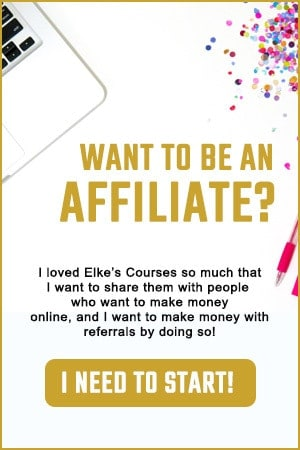 I want to become an affiliate with Elke Clarke by selling the Beginner's and Advanced Zazzle Courses with Elke Clarke