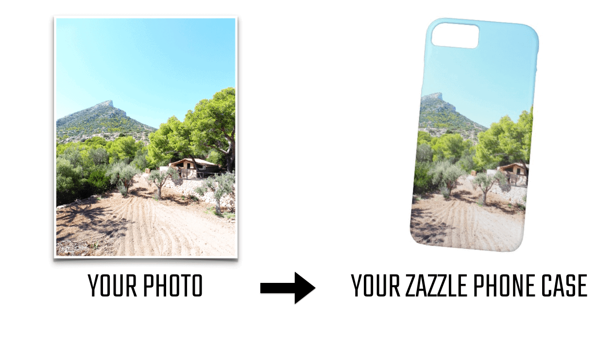 USING THE RULE OF THREE IN DESIGN - EXAMPLE OF A VERTICAL PHOTO AND HOW TO PLACE IT ON A CELL PHONE CASE FOR SALE ON ZAZZLE BY ELKE CLARKE