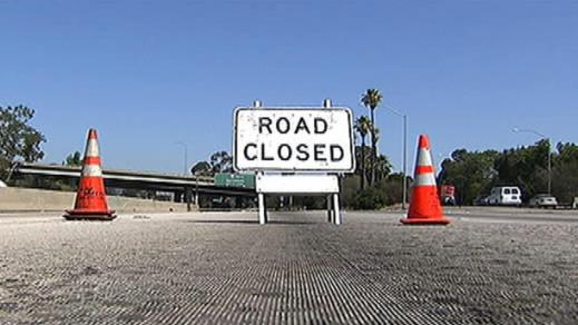 Freeway closed