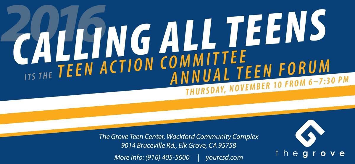 Calling All Elk Grove Teens