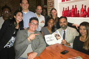 "Tracie Stafford, pictured with Amar Shergill, Parveen Tumbler, Gina Barkalow, Fabrizio Sasso, Robert Longer, Jacqueline ""Jax"" Cheung, Kenneth Cheung, and several others"