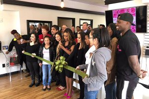 Ribbon Cutting of My Beauty Bar  Photography Credit: Ashley Newell