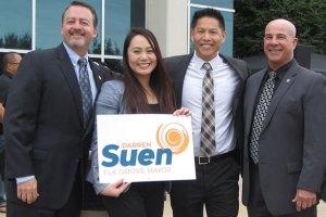 City Council Member Pat Hume, City Council Member Stephanie Nguyen, Vice-Mayor Darren Suen, & City Council Member Steve Detrick