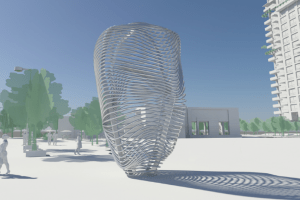 Cloud Fountain Rises At Elk Grove Civic Center Site