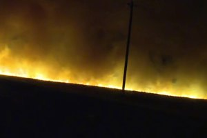 Grass Fire Contained Near Roseville