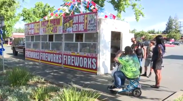 Worker At Firework Stand Run Over By Thieves