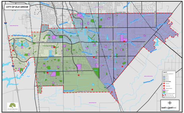 Elk Grove City Council Considers Boundary Maps For By-District Voting