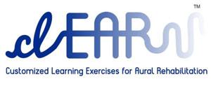 Clear logo, Customized Learning Exercises for Aural Rehabilitation