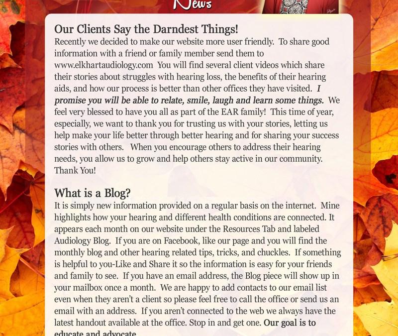November EAR Newsletter