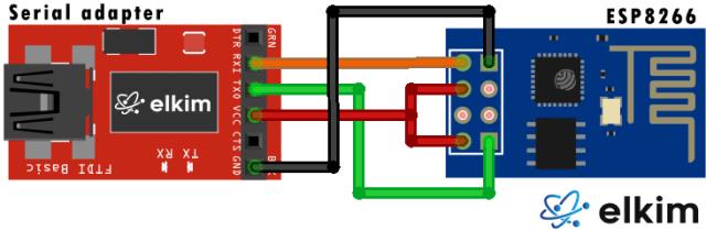 ESP8266 Serial Wiring Elkim