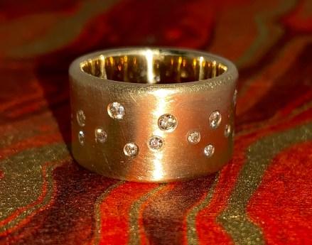 Next Starfall ring, 14k gold diamonds, size 7