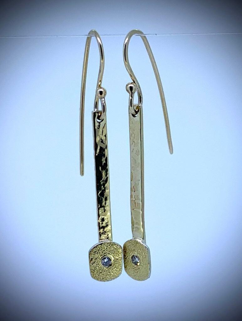 Diamond Paddle Earrings