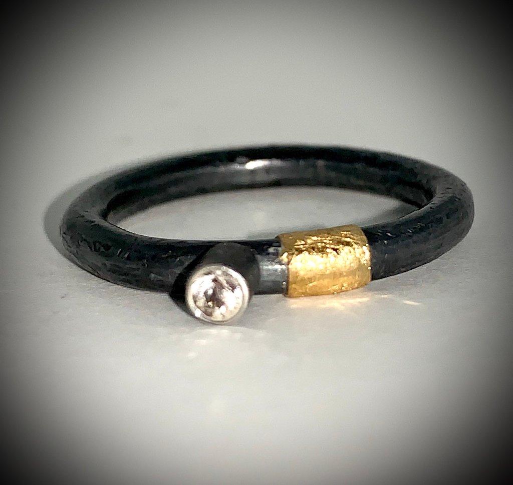 Men's White sapphire ring
