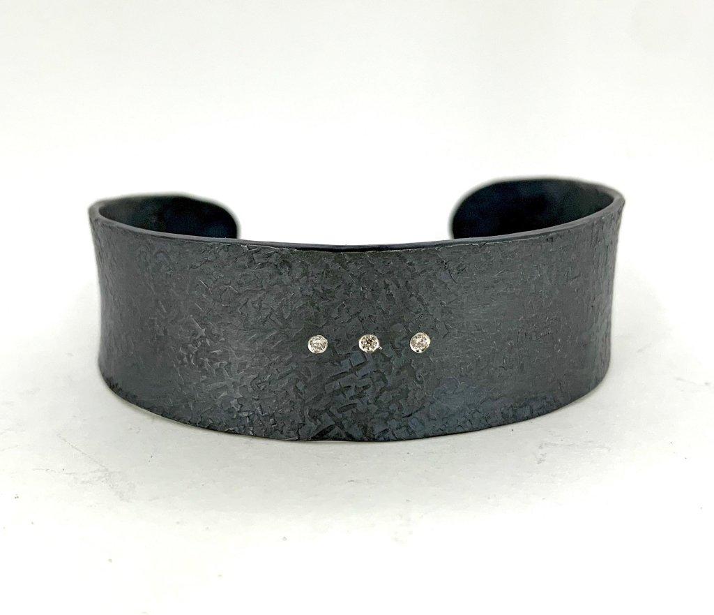 3 diamond cuff bracelet