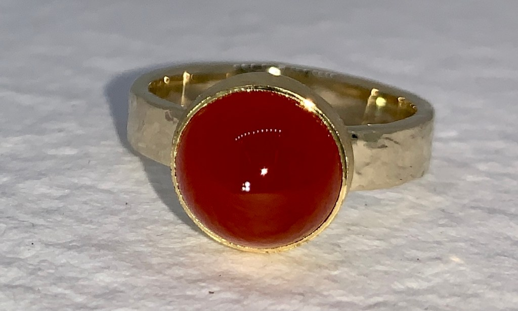 Australian Orange Chalcedony Ring