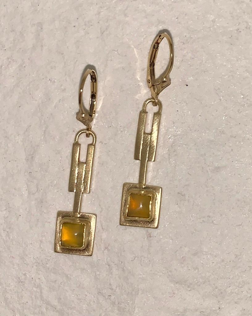 California Golden Opal Earrings