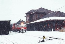 Elkins Depot in the Snow
