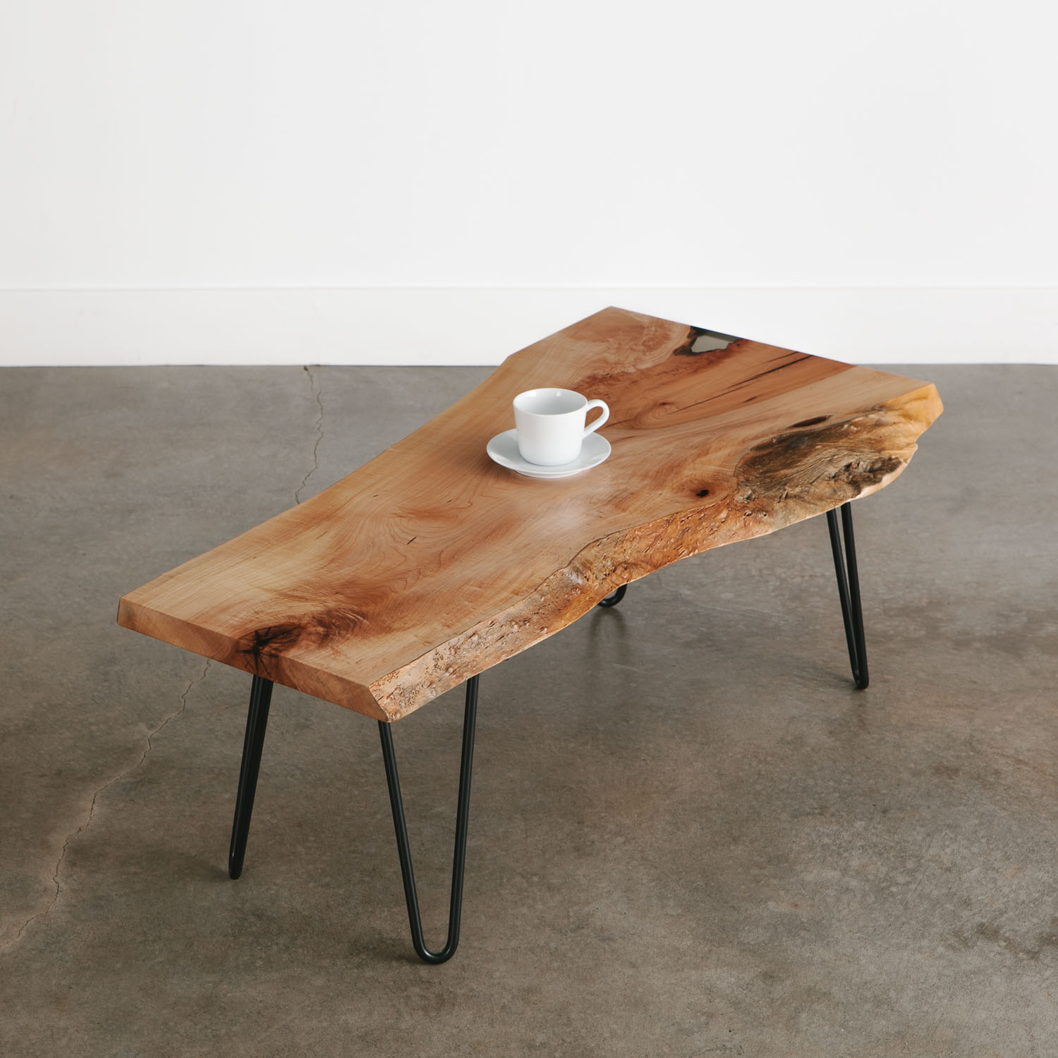 luxury live edge coffee table with