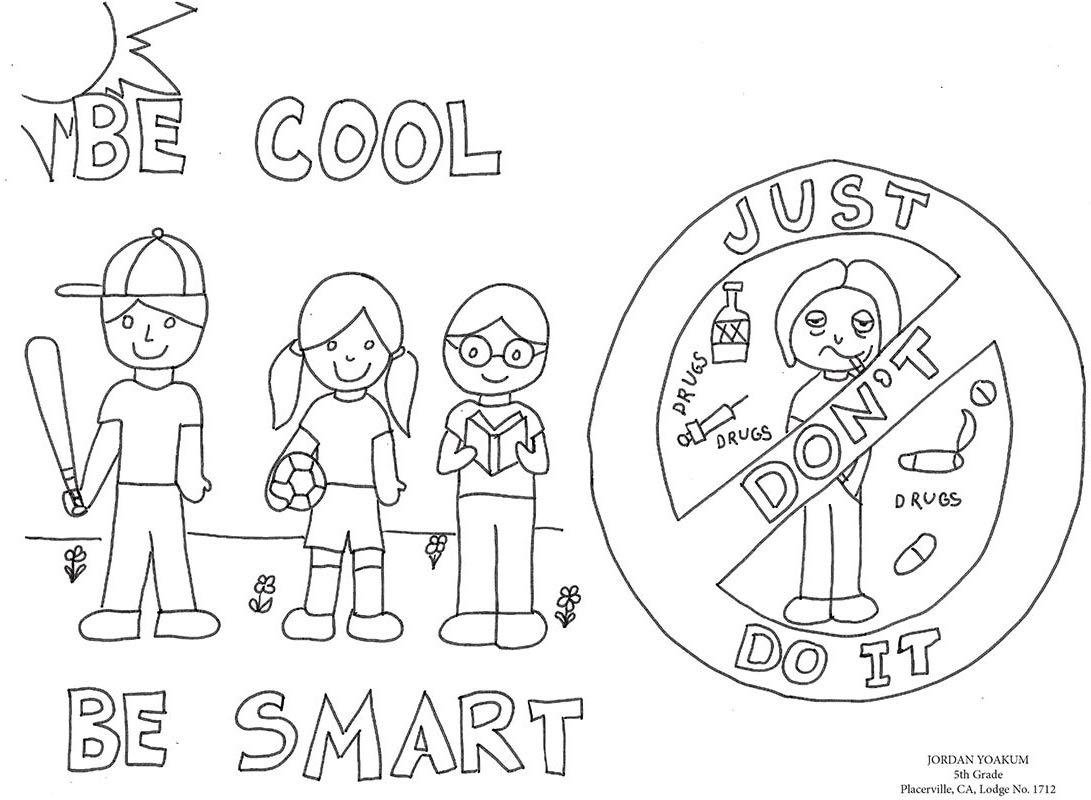 Drug Awareness Coloring Coloring Pages