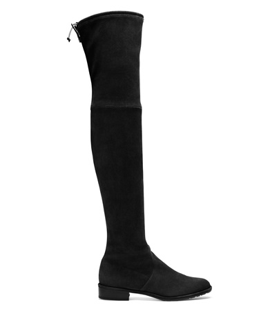 """""""These boots are SO comfortable and have the power to make an outfit. When I don't know what to wear I can start with these guys and work from there—whether it's pairing them sweater and skirt or making them a layer with a jeans, tee, and blazer. I love them. Hard."""" Stuart Weitzman 'The Lowland Boot,' $798, stuartweitzman.com"""