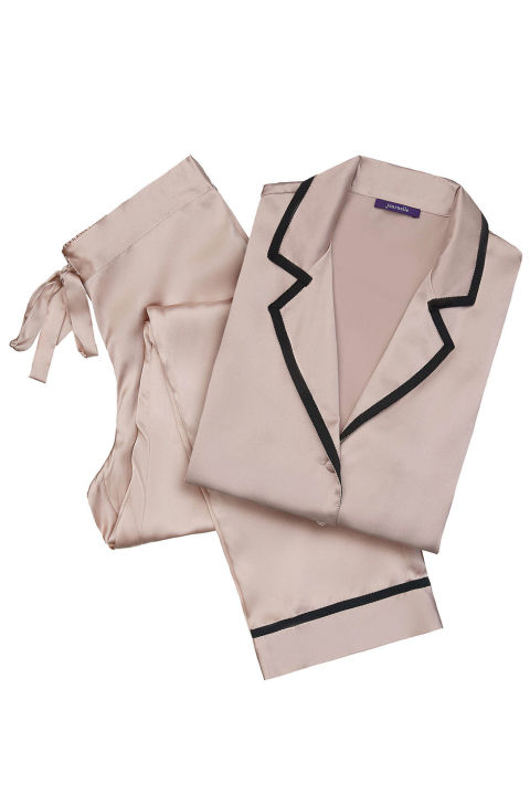 There's a certain level of luxury that comes with wearing posh pajamas. This silk set by Journelle is the kind you can lounge in all day and still not feel like a slob.  Journelle Garbo PJ Set, $225; journelle.com