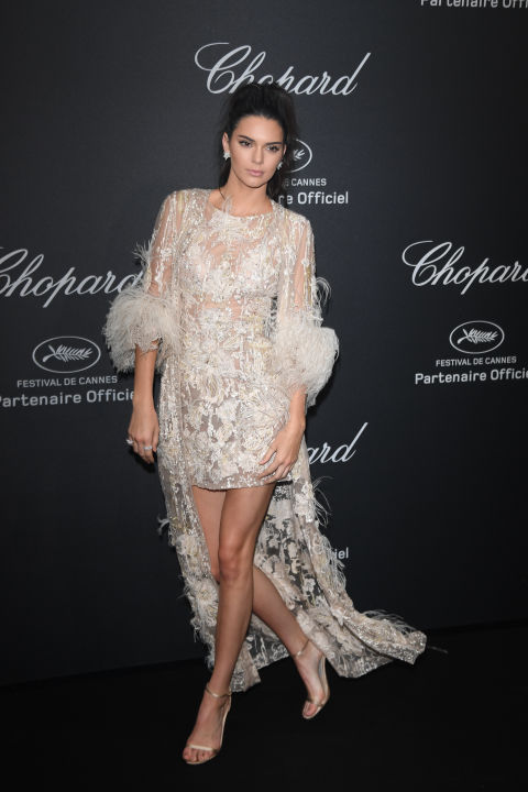 In Elie Saab Haute Couture at Chopard's Wild Party during the Cannes Film Festival.