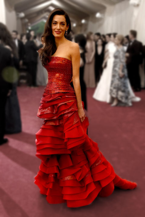 This was Amal's first Met Gala, so naturally, everyone was so curious what she'd wear. (It's John Galliano.)